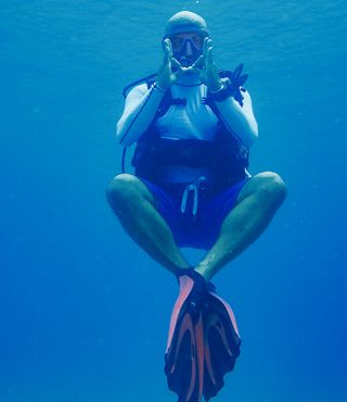 Sibarth diving instructor on St Barth