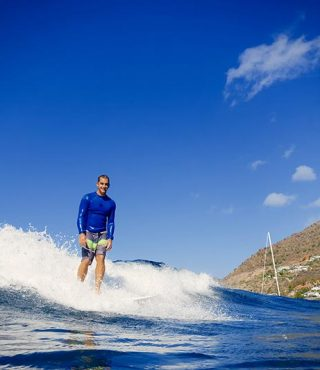 surfing st barth