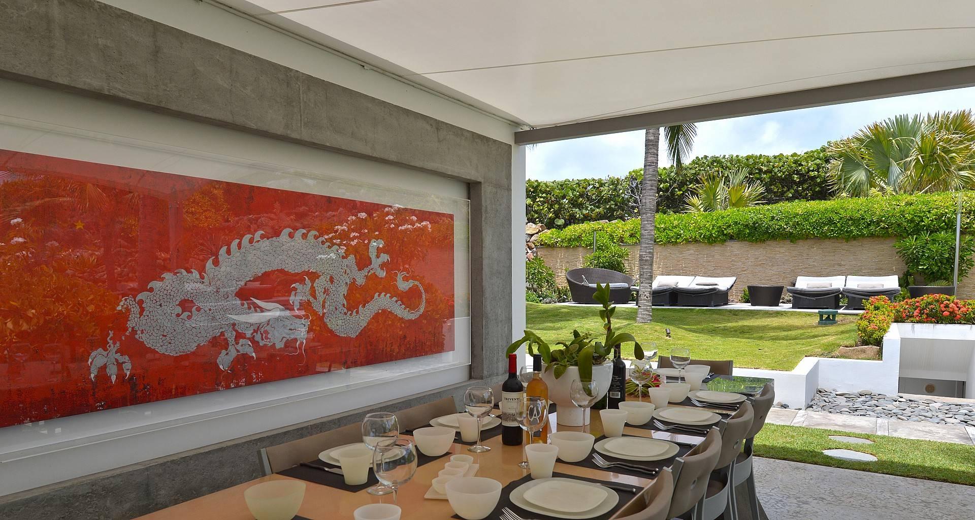 Villa Casa del Mar Outside Dining Area