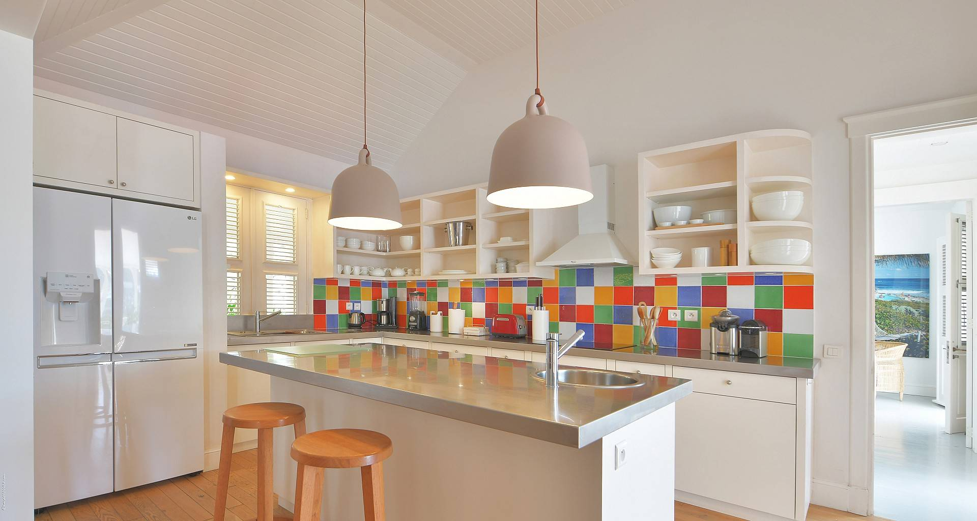 Villa Gustavia Views Kitchen
