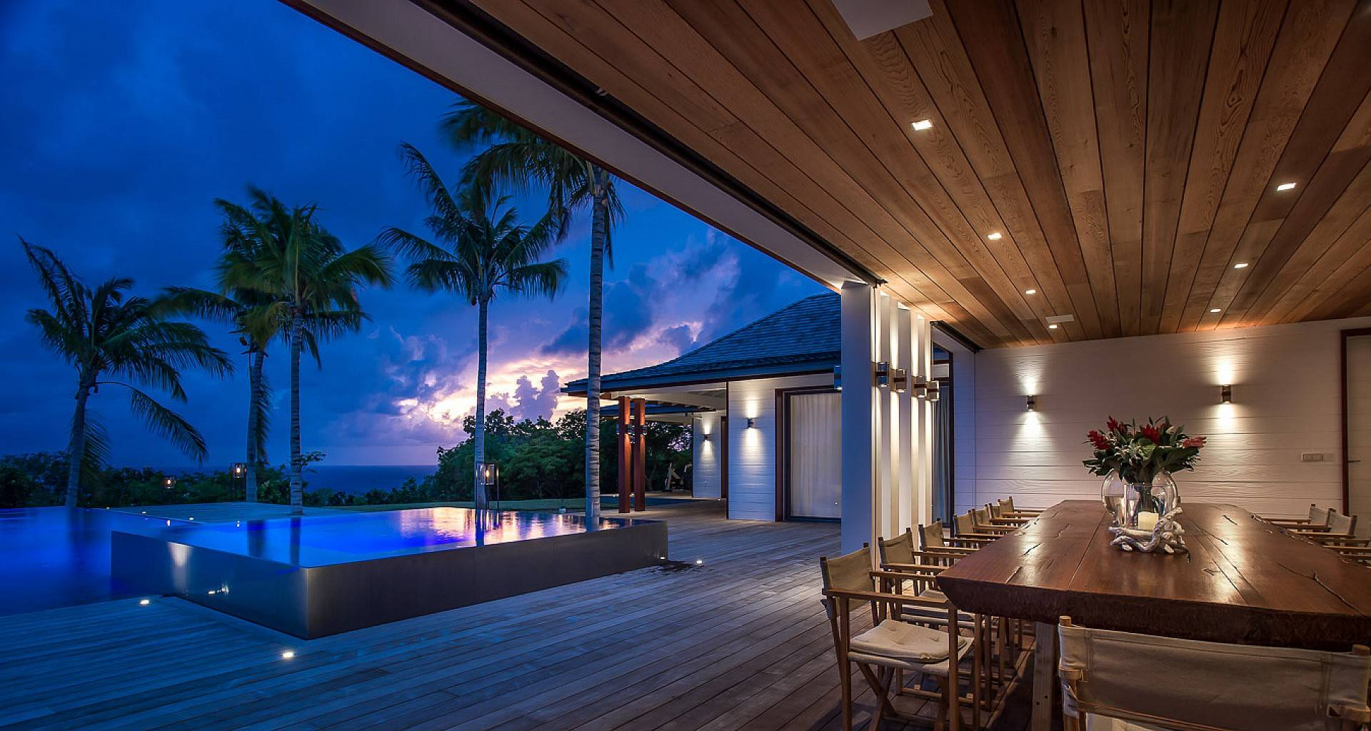 Villa Maison Blanc Bleu Outside
