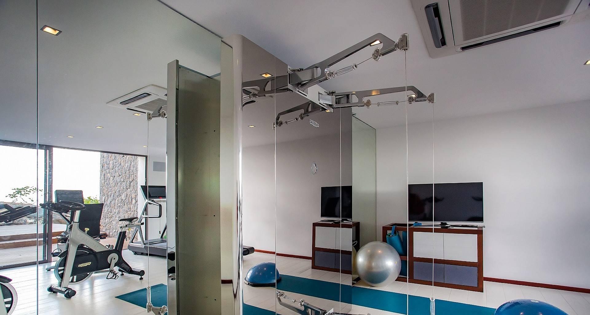 Villa Maison Blanc Bleu Fitness Room